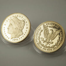 1896 UNITED STATES MORGAN DOLLAR 24K GOLD PLATED COIN