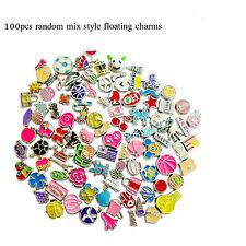 100PC Mix style Floating Charms Fit DIY Living Glass Memory Locket FREE SHIPPING