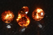 ***NEW***A Single 4mm Amazing Padparadscha Enhanced Natural SAPPHIRE!!!