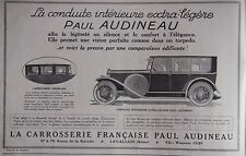PUBLICITÉ 1925 CARROSSERIE FRANÇAISE PAUL AUDINEAU - ADVERTISING