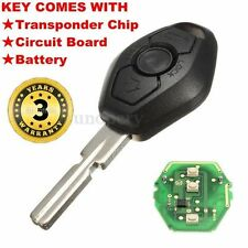 Remote Key Fob Case Blade+Transmitter Chip 433MHZ For BMW E46 E38 3 5 7 Z3 M3