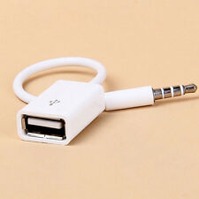 1PC 3.5mm Male AUX Audio Plug Jack to USB 2.0 Female Converter Car Adapter mp3