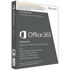 Microsoft Office 365 University - 2 PC oder MAC 4 Jahres Abo
