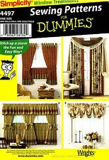Simplicity Sewing Pattern 4497 Window Treatment Valance Panels Cafe curtains