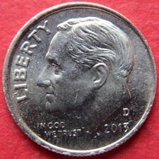 ERROR COIN, 2013-D  ROOSEVELT DIME, w/ BROADSTRIKE ERROR on Obverse COIN #3