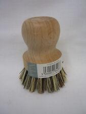 New Eddingtons Traditional Wood Real Bristles Dish Pot Brush 410003