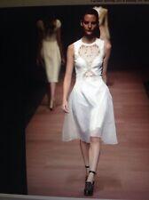 Carven White Organza Dress
