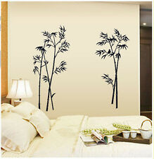 Retro Bamboo Print Wall Art Sticker Removable Vinyl DIY Mural Decal HOME DECOR