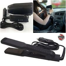 12v Black Travel, Portable, Festival & Camping In Car Hair Dryer & Straighteners