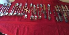 Vint 32 Pc. set of Wm. Rogers Sectional  LS Silverplated Flatware