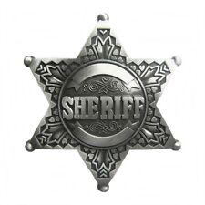 Gürtelschnalle Buckle Gürtelschließe für Wechselgürtel Sheriffstern silber