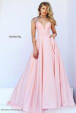 Sherri Hill 50004 Blush Pink Stunning Pageant Prom Gala Gown Dress sz 2