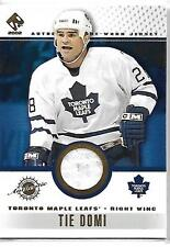 2001-02 Private Stock Tie Domi Game Used Jersey Toronto Maple Leafs #94