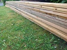 "RECLAIMED TIMBER PLANKS 5"" x 1"" x 22ft 7 metre LONG FOR FENCING KICKBOARDS SHEDS"