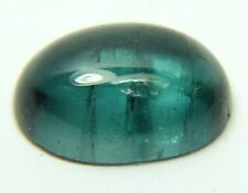 Q-52 Natural blue tourmaline, 3.81ct 11x8x4mm, cabochon, indicolite cab Brazil