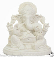 "8"" LUCKY GANESH STATUE FIGURE SCULPTURE HANDMADE MARBLE ART HOME DECOR BEST GIFT"