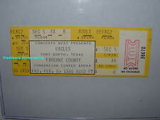EAGLES Unused 1980 Concert Ticket FORT WORTH TX The Long Run Tour VERY RARE