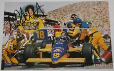 1987 Michael Andretti signed STP Cosworth March Indy Car postcard