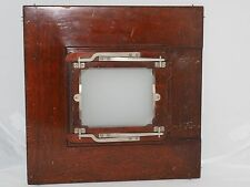 Vintage Deardorff wood 8x10 to 4x5 inch reducing back with ground glass.
