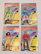Vintage Flash Gordon Brand New Unopened Figures with Unpunched Cards - 4 Total