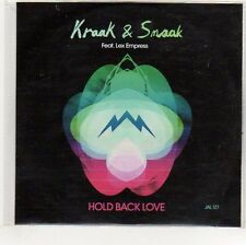(EO879) Kraak & Smaak, Hold Back Love ft. Lex Empress - 2012 DJ CD