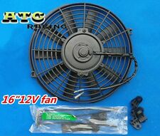 "16"" 12V Slim Radiator Cooling Thermo Fan&Mounting kit ,universal electric fan"