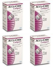 Accu Chek COMPACT Blood Glucose Monitoring ROCHE x 4 boxes 204Test Strips