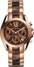 Michael Kors Women's Mini Bradshaw Rose Gold Tone Chronograph with Acetate