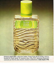 PUBLICITE ADVERTISING 025  1977  LUBIN  eau de toilette GIN FIZZ