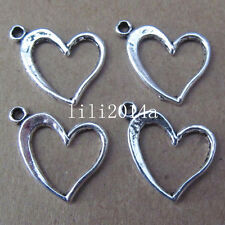 20pc Tibet Silver Heart Charm Pendant Bead accessories  PL045