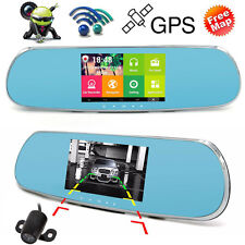 1080P GPS Sat Nav Android WIFI Rear View Mirror Camera Dash Cam IN-CAR DVR S518