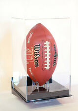 Football display case vertical wall mount full size 85% UV  acrylic NFL NCAA