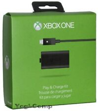 Microsoft XBOX ONE Play & Charge Kit for Wireless Controller NEW + FREE SHIP