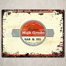 PP0055 Rustic GAS sign Home Store Shop Cafe Bar Pub Restaurant Wall Decor Gift