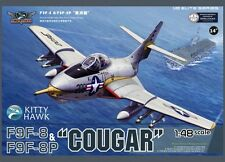 Kitty Hawk 1/48 F9F-8 & F9F-8P Cougar  #80127 #KH80127  *New*Sealed*