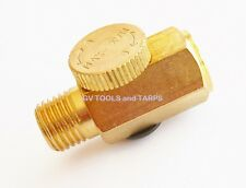 BRASS INLINE AIR REGULATOR with ADJUSTING KNOB **Free Shipping **