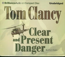 Audiobook - Clear And Present Danger by Tom Clancy   -   CD