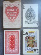 vintage LINETTE playing cards by Goodall 1920s red back