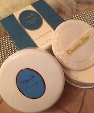 100% Auténtico DIOR DIORELLA Perfumado polvo de polvoreda & Puff enorme 4OZ sólo 1on de eBay