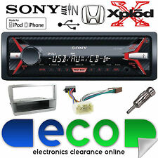 HONDA Civic ep1 00-06 cdx-g1100u CD mp3 USB AUX IN ARGENTO STEREO AUTO KIT DI MONTAGGIO