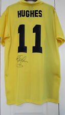 "Signed BARCELONA Away "" Mark Hughes "" Retro Shirt (WITH COA)"