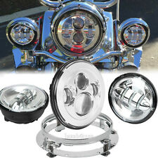 Daymaker Headlight + Lights + Mount Ring For Harley Davidson Heritage Softail