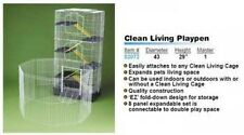 Pet Playpen Canvas 8-Panel Clean Living Cage Large Indoor Cat Dog Pens Rabbit