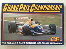 Vintage 1989 Grand Prix Championship Board Game 100% Complete Very Good Con