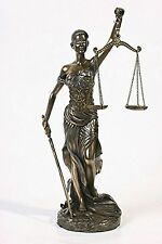 "Gift Lady Justice Blind Scale of Justice Bronze Statue 12"" Law Lawyer Unique"