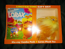Dr. Seuss The Lorax Blu-Ray Combo Pack + Plush Toy + 3 Mini-Movies (NEW SEALED)