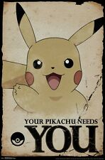 POKEMON - PIKACHU NEEDS YOU POSTER - 22x34 - 15249