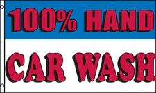 100% HAND CAR WASH Flag 3x5 ft Business Advertising Sign Banner Detailing Auto