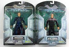 "Star Trek Nemesis SHINZON & PICARD 7"" Action Figure Lot 2002 Art Asylum"