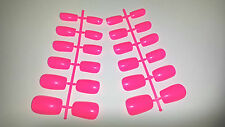 24 BUDGET FALSE FAKE NAILS TIPS + GLUE IDEAL REPLACEMENT NAIL TIP HOT PINK